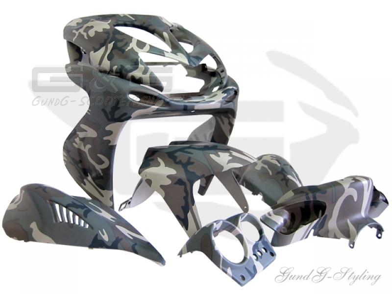 verkleidung verkleidungsset tnt in camouflage yamaha aerox mbk nitro ebay. Black Bedroom Furniture Sets. Home Design Ideas