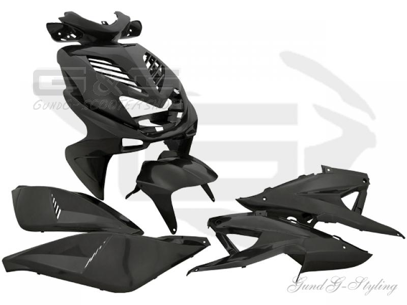 VERKLEIDUNGSSET Revêtement Carénage Pièces Noir Pour Yamaha Aerox MBK Nitro