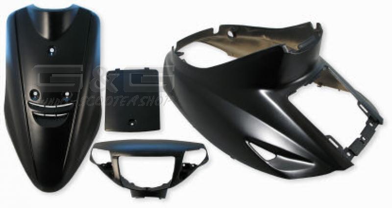 disguise kit panel fairing parts in black matte for yamaha On yamaha jog plastic kit