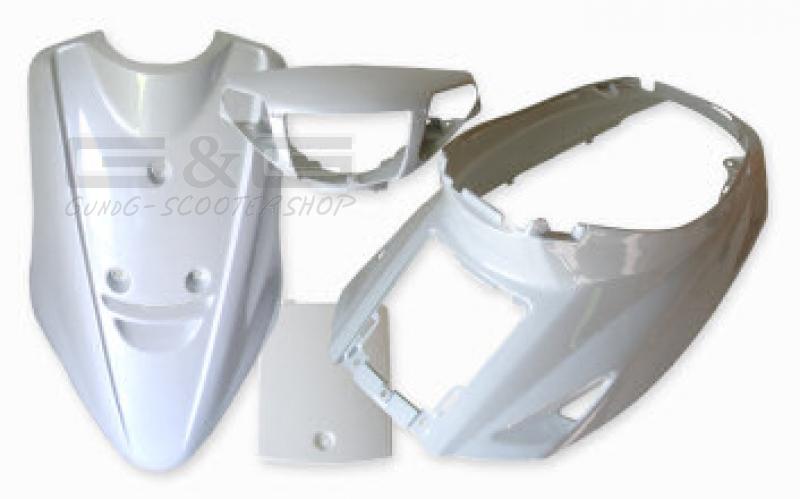 disguise kit panel fairing parts white metallic for yamaha On yamaha jog plastic kit