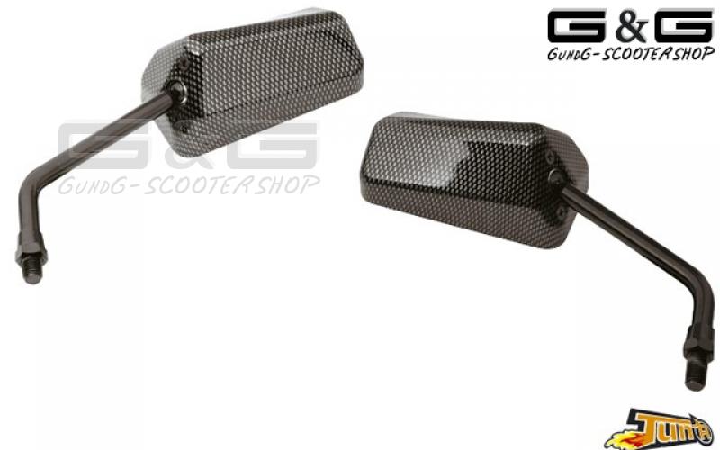 2x carbon f1 spiegel universal kurzgewinde m10 motorrad for Spiegel quad