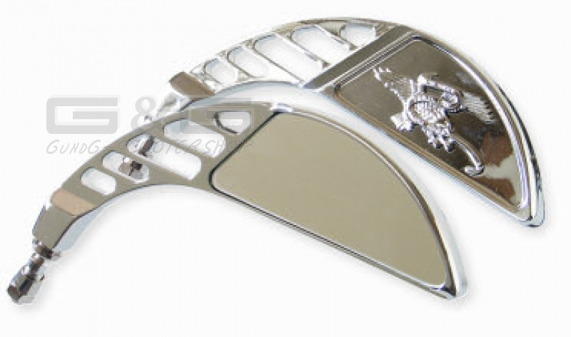 Custom chrom spiegel re li m10 fur motorrad roller quad ebay for Spiegel quad