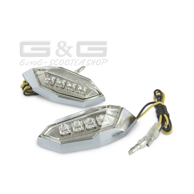 Details About Fairing Indicator Led Indicator Chrome With E Test Mark Motorcycle Scooter Quad