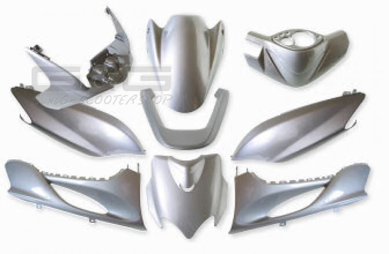 accessoire de d guisement kit parties car nage argent mbk On yamaha jog plastic kit