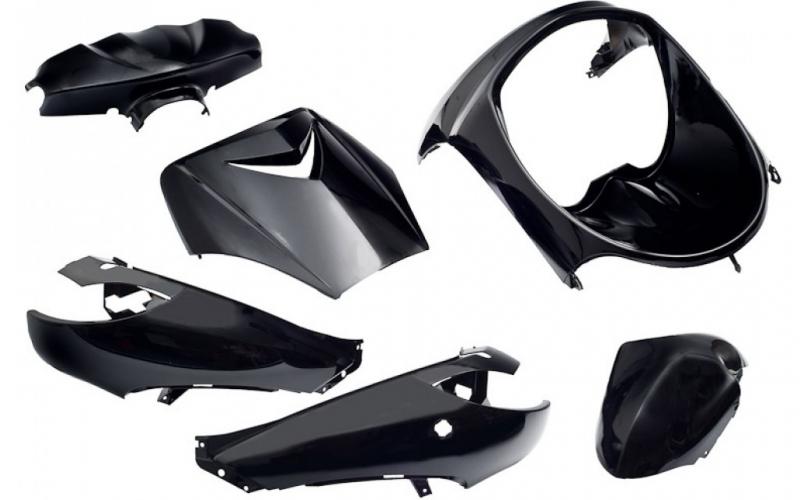 accessoire de d guisement kit 6 parties car nage en noir pour peugeot vivacity ebay. Black Bedroom Furniture Sets. Home Design Ideas