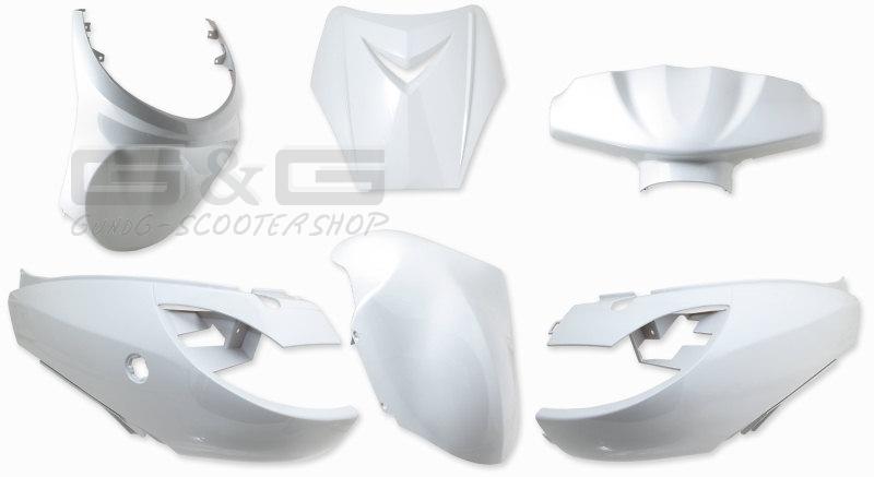 accessoire de d guisement kit d guisement blanc pour peugeot vivacity ebay. Black Bedroom Furniture Sets. Home Design Ideas