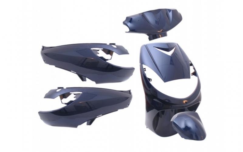 capot kit car nage 6 parties de car nage coloris bleu pour peugeot vivacity 50. Black Bedroom Furniture Sets. Home Design Ideas