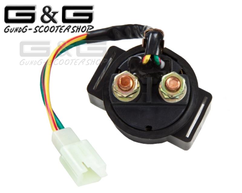 Anlasser Starterrelais Magnetschalter für China 4 Takt GY6 125 150ccm Roller