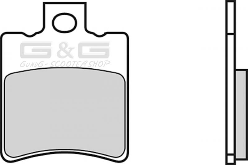 Bremsbel/äge Bremskl/ötze POLINI organisch for Race f/ür Yamaha BWS 50 NG -98