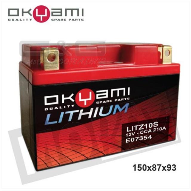 lithium ion motorrad batterie okyami litz10s ytz10s ytx12. Black Bedroom Furniture Sets. Home Design Ideas