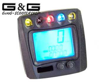 universal lcd digital tachometer koso tacho f r motorrad. Black Bedroom Furniture Sets. Home Design Ideas