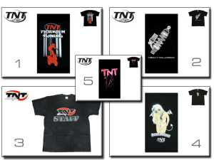 T-Shirt TNT Life 5-Designs ( M-L-XL )