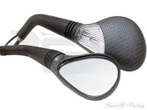 Spiegel Diamond Carbon-Matt mit Blinker M8 CE