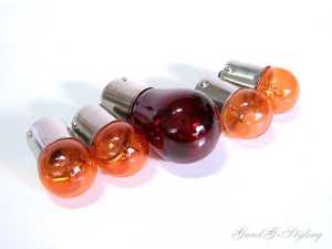 Glühbirnen Blinker Birnen Orange Rücklichtbirne Rot