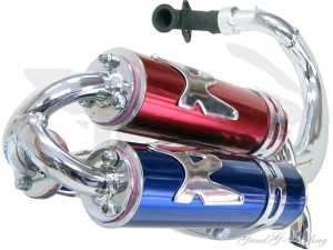 Auspuff Rennauspuff Turbo Kit RR Minarelli Stehend *CE*