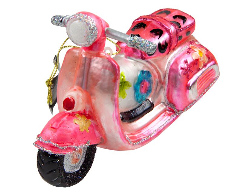 Weihnachtskugel Vespa Weihnachts Kugel Christbaumschmuck Pink Roller