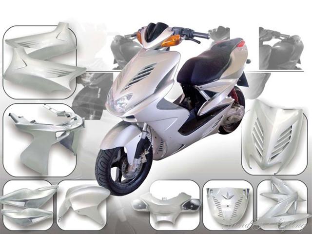 Frontverkleidung Front Verkleidung in Schwarz für MBK Nitro Yamaha Aerox