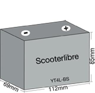 batterie 12v 3ah yt4lb sal gel wartungsfrei f r 50ccm roller. Black Bedroom Furniture Sets. Home Design Ideas